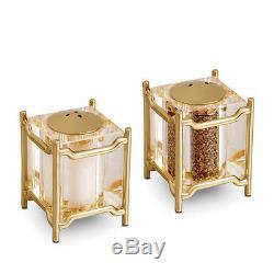 NEW L'objet Han Gold Salt & Pepper Shaker Set