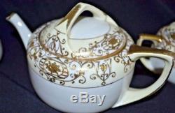 NIPPON 16034 Christmas Ball dessert TEA SET for 6 + salt/pepper set EX COND