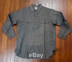 NOS Vintage 50s Penney's Big Mac Black Chambray Shirt Sanforized Salt & Pepper