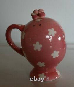 Napco Miss Cutie Pie Pink Salt & Pepper Shakers with Allspice 3 piece set RARE