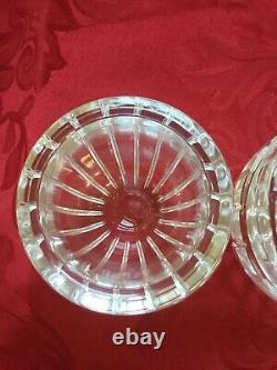 Near FLAWLESS Stunning BACCARAT France Glass HARMONIE Crystal SALT PEPPER SHAKER