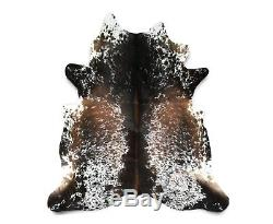 New Brazilian Cowhide Rug Leather SALT AND PEPPER 6'x7' Cow Hide