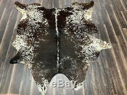New Brazilian salt and pepper cowhide rug size 77x73 inches AU-1471