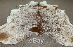 New Large Salt and Pepper speckled cowhide rug size 90x76 inches AU-1191