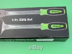 New Ssx14p9 Snap On Green Handle 4 Pc Untensil Bbq Bar B Que Set Salt Pepper