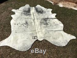 New Stock A Grade Cow Hide Black White Salt Pepper 3.8m2 Floor Rug Mat