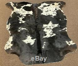 New salt and pepper cowhide rug size 71x73 inches AU-963