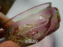 Northwood USA Royal Ivy Rainbow Spatter Crackle Salt & Pepper withBerry Bowl