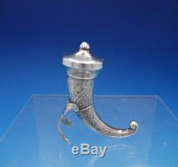 Norwegian Sterling Silver Salt Dip and Pepper Set 3pc Viking Design (#4354)