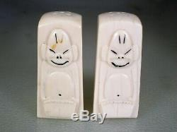 Old Alaskan Hand Carved Billiken Salt & Pepper Shakers