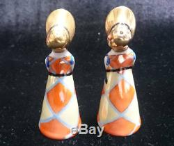 Old Noritake Deco Lady Salt & Pepper Vintage