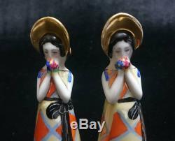 Old Noritake Deco Lady Salt & Pepper Vintage
