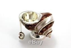 Original Schnecke Natur Gewürze Salz Salzstreuer Mit Löffel 925 Sterling Silber