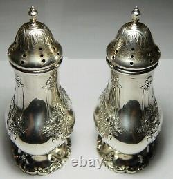 PAIR OF FRANCIS I STERLING SALT & PEPPER SHAKERS by REED & BARTON T18
