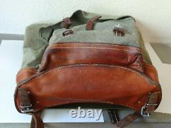 PERFECT Swiss Army Military Backpack Rucksack 1968 Canvas Salt & Pepper TOP