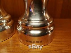 Pair Of Solid Silver Salt & Pepper Grinders / Mills Large Size