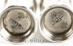 Pair of Asprey London Sterling Silver Salt & Pepper Shakers, 1983. 4 pairs avail