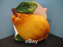 Pear 3D shape Salt & Pepper holder BISTRO DECOR bar waiter home kitchen new