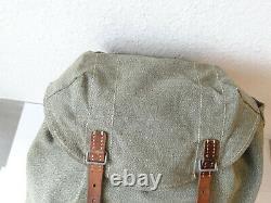 Perfect Swiss Army Military Backpack Rucksack 58 Canvas Salt Pepper Switzerland