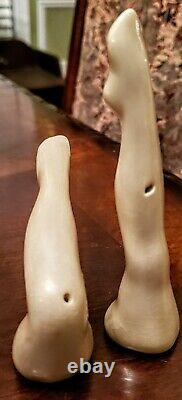RARE! 1940's Vintage Dorothy Kindell Sexy Risque Lady Legs Salt & Pepper Shakers