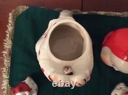RARE Peek A Boo Bunny Cookie Jar & Salt & Pepper Shakers Ruth Van Tellingen