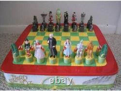 RARE Star Jars Wizard Of Oz Chess Cookie Jar Salt Pepper Complete Set