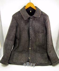 RARE True Vintage BROWNS BEACH JACKET Workwear Jacket SALT & PEPPER Early 20-30s