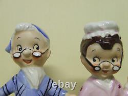 RARE/VHTF Vintage Holt Howard Turnabout Boy/Girl Grandma/Grandpa Salt & Pepper