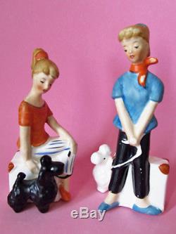 ROCK'n ROLL'50's PONYTAIL GIRLS & POODLES Salt and Pepper Shakers ARDALT