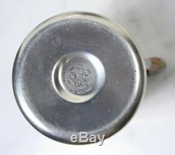 ROYAL HOLLAND DAALDEROP PEWTER Coffee Pitcher Creamer Sugar Salt Pepper VTG MCM