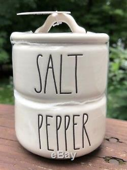 Rae Dunn Salt and Pepper Stackable! Hard to Find