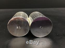 Ralph Lauren Montgomery Silver Plate Salt & Pepper Shaker Set