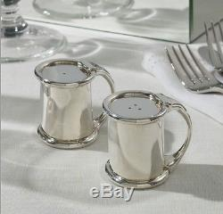 Ralph Lauren Wentworth Salt and Pepper Shaker BNIB! Silver Plated Brass. Heavy