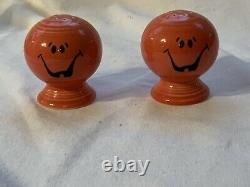 Rare Fiesta Persimmon Pumpkin Prototype Salt And Pepper Shakers