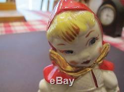 Rare Hull Little Red Riding Hood 4 1/2 H medium size salt & pepper shaker set