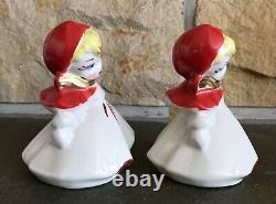 Rare Hull Little Red Riding Hood Medium Size 4 1/2 Salt & Pepper Shakers