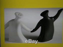Rare Joyous Inter-racial human couple SALT AND PEPPER SHAKERS Dancing Happy