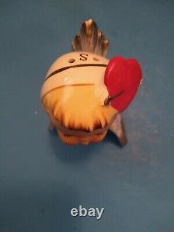 Rare NAPCO Valentine's Day Anthropomorphic Love Birds Salt Pepper 3N2647 AS IS