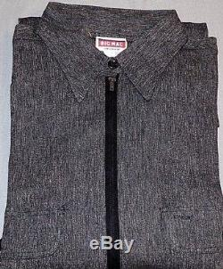 Rare NOS Big Mac Salt & Pepper Sanforized Denim Work Shirt-Size 15-Union Label