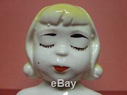 Rare/VHTF Vintage Stacker Blonde Girl on Bust Salt & Pepper Shakers