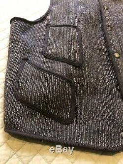Rare Vintage 1930's Browns Beach Jacket Salt & Pepper Workwear Vest Sz 46