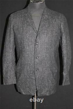 Rare Vintage 1950's Classic Black & White Salt & Pepper Wool Sport Jacket Sz 38