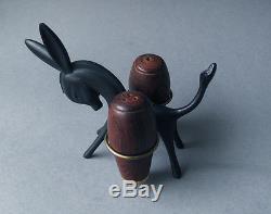 Rare Walter Bosse Original Donkey Salt and Pepper Shaker Set, Austria 1950s