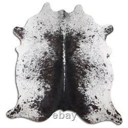 Real Cowhide Rug Salt & Pepper Size 6 by 7 ft, Top Quality, Large Size