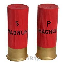 Rivers Edge 518 Ceramic Shot Gun Shells Shaped Salt and Pepper Shakers