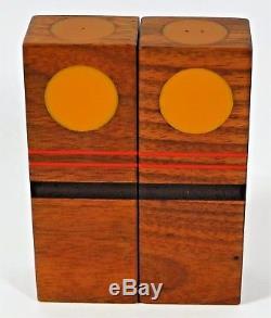 Robert McKeown 1976 Mid Century Modern Salt Pepper Shakers