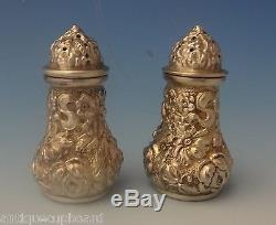 Rose by Stieff Sterling Silver Salt & Pepper Shakers 2pc (#0245)