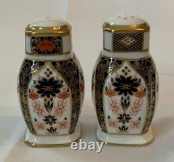 Royal Crown Derby 1128 Old Imari Salt Pepper Shakers Set (More Available) MINT