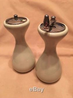 Russel Wright Iroquois Casual China LETTUCE GREEN Tall Salt & Pepper Mills RARE