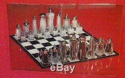 Salt And Pepper Shaker Chess Set New! Large Deluxe Set